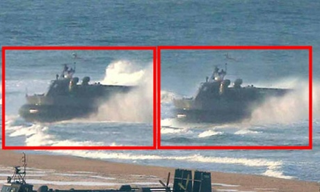 North Korea doctored Hovercrafts